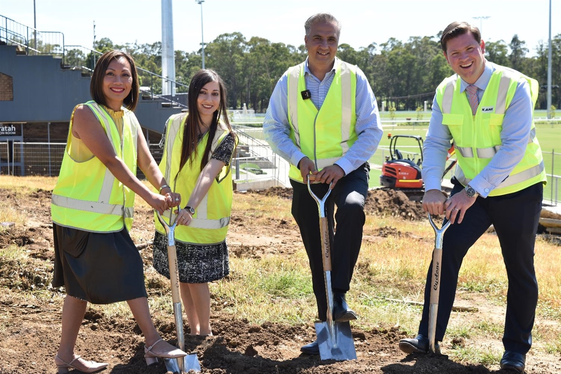 Fairfield City Mayor Frank Carbone with the Hon. Scott Farlow MLC and Councillors Dai Le and Sera Yilmaz
