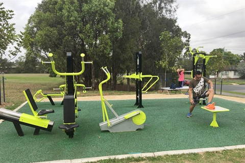 Brenan Park outdoor fitness equipment